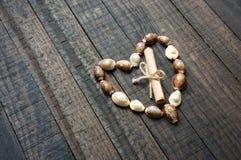 Ik houd van u, shell, hartvorm, valentijnskaartdag stock foto