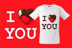 Ik houd van u, t-shirtontwerp, modern drukgebruik voor sweatshirts, herinneringen en ander gebruik, vectorillustratie Royalty-vrije Stock Afbeeldingen