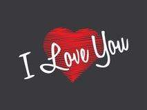Ik houd van u, valentijnskaartendag Stock Fotografie