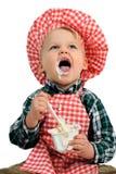 Ik houd van yoghurt Stock Foto's