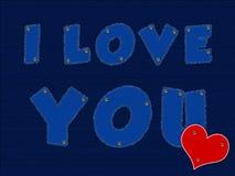 Ik houd van you_Jeans Stock Afbeeldingen