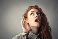 Ik kan niet u horen! royalty-vrije stock fotografie