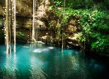 Ik-Kil Cenote, Mexique photographie stock libre de droits