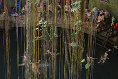 Ik-kil cenote w półwysep jukatan, Meksyk Obraz Royalty Free