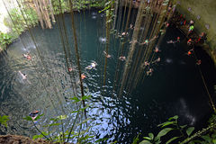 Ik-kil cenote in Yucatan peninsula, Mexico. Stock Photo