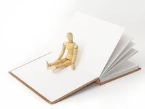 Ik leef een boek Stock Afbeelding