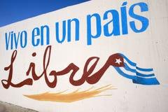 Ik leef in een vrij Land - Havana, Cuba Stock Afbeelding