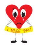 Ik mis u hart Stock Foto's