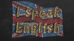 Ik spreek het Engels royalty-vrije illustratie