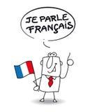 Ik spreek het Frans stock illustratie