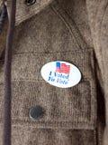 Ik stemde over sticker Stock Foto