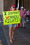 Ik steun de Rechten van Wisconsin Workesr! Stock Fotografie