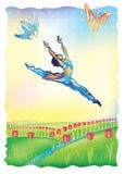 Ik volg de zon (balletdanser) royalty-vrije illustratie