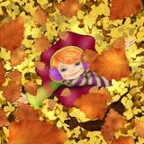 Ik wil de herfst omhelzen vector illustratie