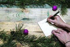 Ik wil Kerstmis royalty-vrije stock afbeelding
