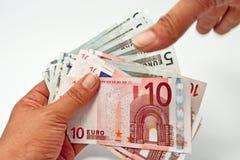Ik wil uw geld Stock Foto's