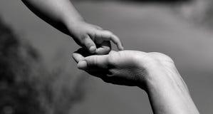 Ik wil Uw Hand houden Stock Afbeeldingen