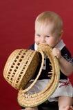 Ik zal deze hoed eten! royalty-vrije stock fotografie