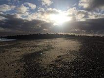 Ik zie de zon door porrend Stock Foto