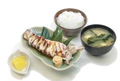 Ika Teriyaki Set Stock Image