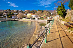 Ika village and Lungomare walkway view Royalty Free Stock Photography