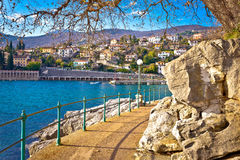 Ika village and Lungomare walkway view Royalty Free Stock Images