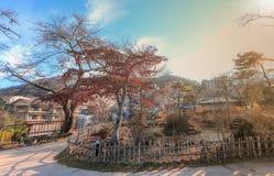 Ikaho Onsen на осени городок горячего источника устроенный на пасхе Стоковая Фотография