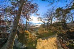 Ikaho Onsen на осени городок горячего источника устроенный на пасхе Стоковые Изображения