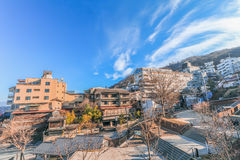 Ikaho Onsen on autumn is a hot spring town located on the easter. N slopes of Mount Haruna , famous place of Gunma Prefecture,Japan royalty free stock photos