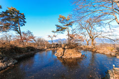Ikaho Onsen on autumn is a hot spring town located on the easter. N slopes of Mount Haruna , famous place of Gunma Prefecture,Japan royalty free stock images