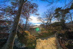 Ikaho Onsen on autumn is a hot spring town located on the easter. N slopes of Mount Haruna , famous place of Gunma Prefecture,Japan royalty free stock photography