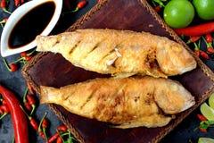 Ikan Goreng - top view Stock Photo