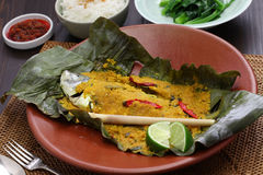 Ikan pepes, indonesian cuisine Royalty Free Stock Photo