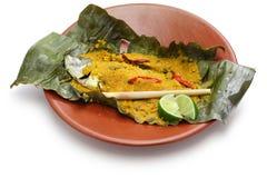 Ikan pepes, indonezyjska kuchnia obraz royalty free