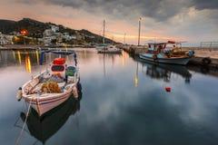 Ikaria Island. Agios Kirikos village on Ikaria island in Greece Royalty Free Stock Images