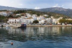 Ikaria Island. Harbor of Agios Kirikos village on Ikaria island in Greece Royalty Free Stock Photo