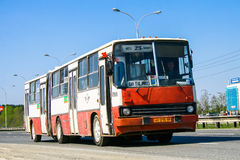 Ikarus 280. YEKATERINBURG, RUSSIA - MAY 9, 2010: Articulated city bus Ikarus 280 at the suburban road stock photo