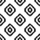 Ikat传染媒介无缝的样式 抽象几何 图库摄影