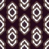 Ikat传染媒介无缝的样式 抽象几何 免版税库存图片