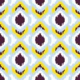 Ikat传染媒介无缝的样式 抽象几何 免版税库存照片
