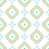 Ikat传染媒介无缝的样式 抽象几何 免版税图库摄影