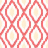 Ikat传染媒介无缝的样式 抽象几何 库存照片