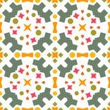 Ikat几何民间传说装饰品 模式无缝镶边 向量例证