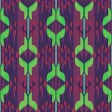 Ikat无缝的样式设计 种族织品 漂泊时尚 库存图片