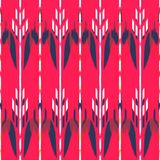 Ikat无缝的样式设计 种族织品 漂泊时尚 免版税库存照片