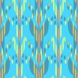 Ikat无缝的样式设计 种族织品 漂泊时尚 免版税库存图片