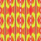 Ikat无缝的样式设计 种族织品 漂泊时尚 图库摄影