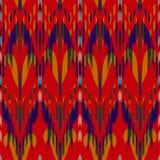 Ikat无缝的样式设计 种族织品 漂泊时尚 免版税图库摄影