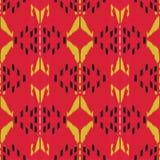 Ikat无缝的样式设计 种族织品 漂泊时尚 库存照片
