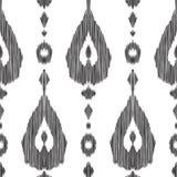 Ikat无缝的样式 时尚墙纸 免版税库存图片